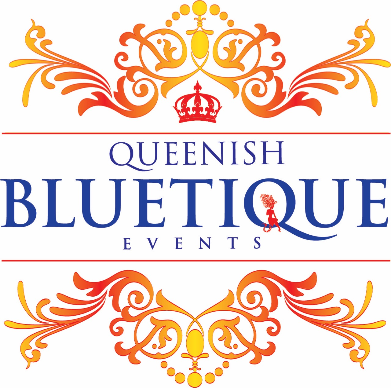 Queenish Bluetique Events Logo