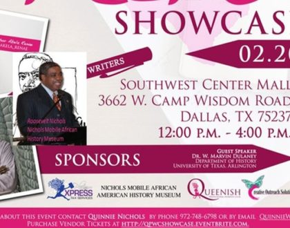 1st Annual Southwest Writers Showcase Presented by The Queenish Professional Women's Club in Dallas
